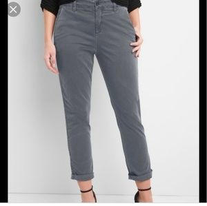 GAP gray girlfriend chino with tuxedo stripe Sz 0